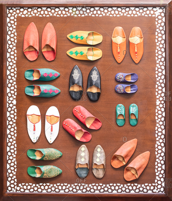 Handmade colorful traditional morocco footwear