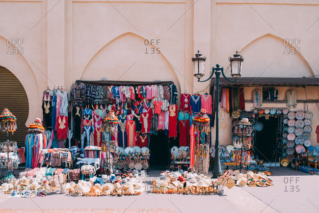 Souvenir shop in a morocco market