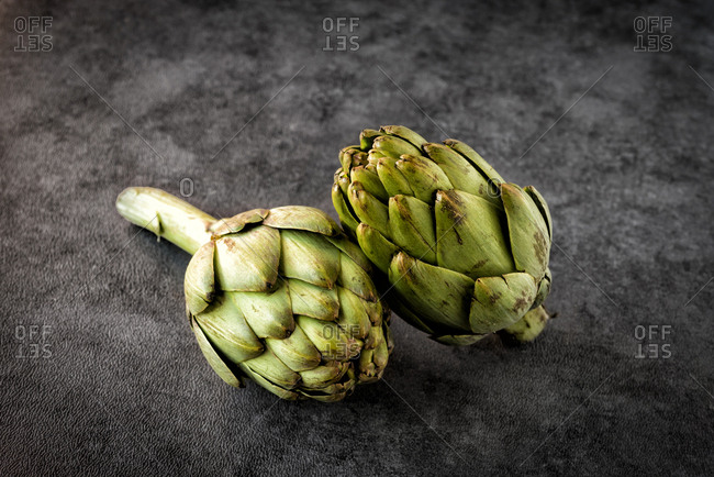 Close-up artichoke in white background