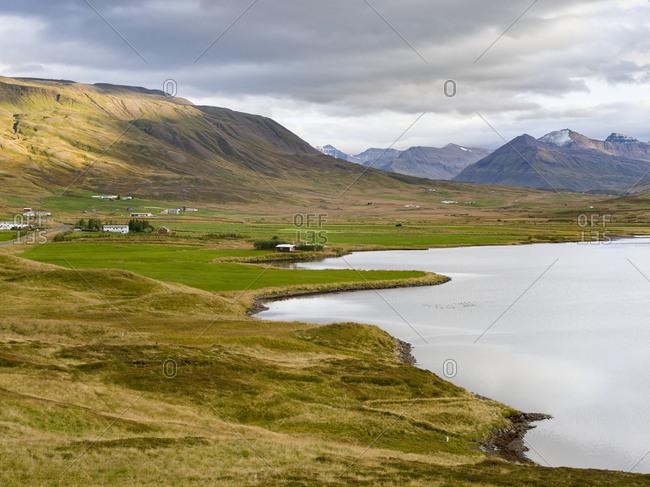 Landscape at Miklavatn, Trollaskagi, near Siglufjordur.