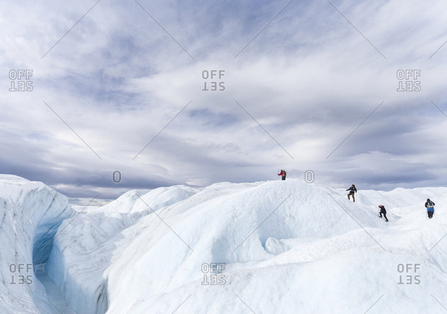 Landscape on the Greenland Ice Sheet near Kangerlussuaq, Greenland, Denmark (Editorial Use Only)