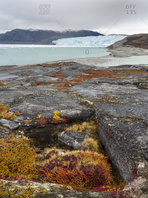 Glacier Eqip (Eqip Sermia) in western Greenland, Denmark