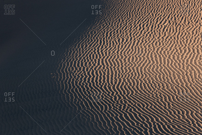 USA- Californian- Death Valley- Death Valley National Park- Mesquite Flat Sand Dunes- full frame
