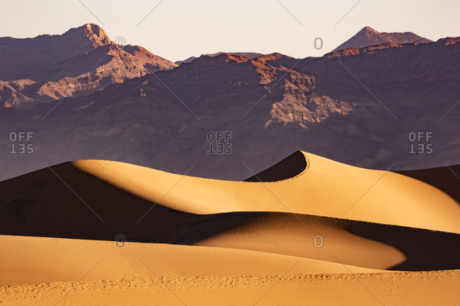USA- Californian- Death Valley- Death Valley National Park- Mesquite Flat Sand Dunes