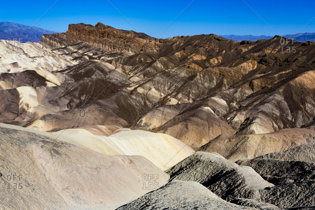 USA- Californian- Death Valley- Death Valley National Park- Zabriskie Point