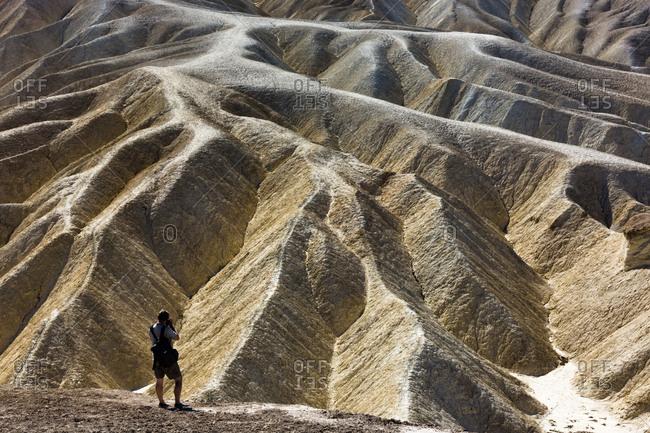 USA- Californian- Death Valley- Zabriskie Point- photographer
