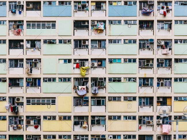 Hong Kong - November 21, 2018: Hong Kong- Kowloon- oldest public housing estates