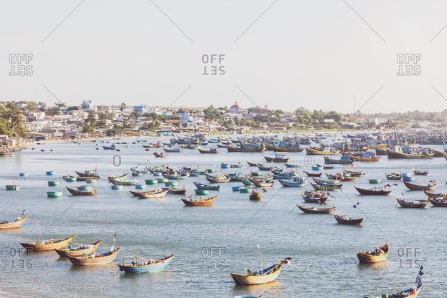 Vietnam- Mui Ne- fishing village- fishing boats
