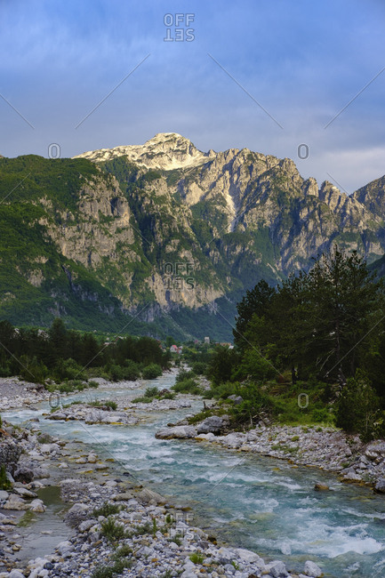 Albania- Shkoder County- Albanian Alps- Theth National Park- Theth river