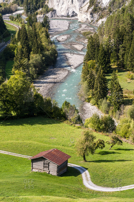 Switzerland- Grisons- Ruinaulta - Rhine canyon