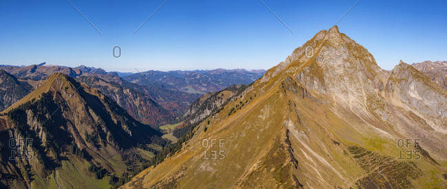 Germany- Bavaria- Allgaeu-  Allgaeu Alps- Kegelkopf and Dietersbach Valley