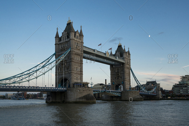 England - August 19, 2018: Great Britain- England- London- Tower Bridge at sunset