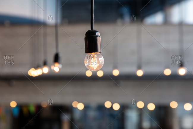 Illuminated hanging lights
