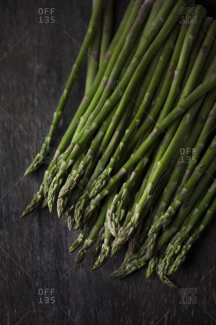 Close up of a bunch of asparagus