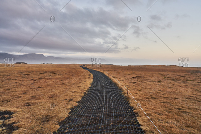 Hiking trail in rural Iceland