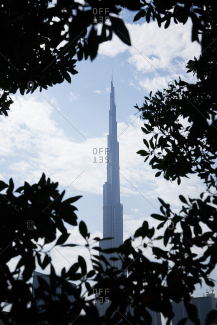 Dubai, United Arab Emirates - November 25, 2018: Burj Khalifa building