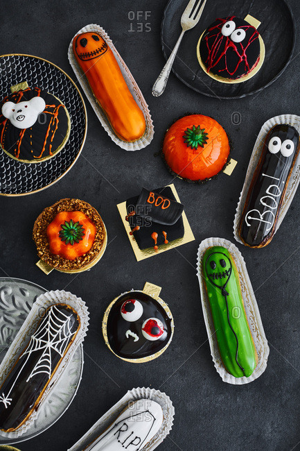 Halloween themed pastries