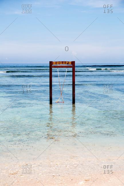 Tropical island beach on Gili Trawangan