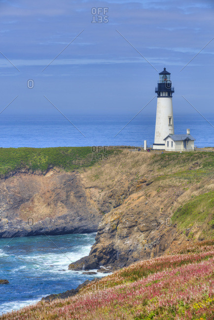 Yaquina Lighthouse, near Agate Beach, Oregon, United States of America, North America