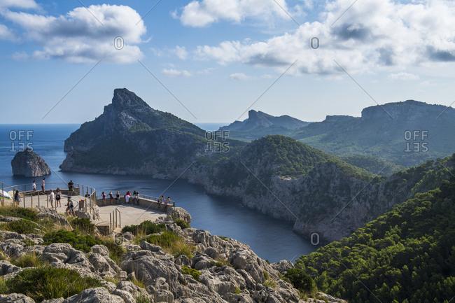 September 8, 2018: View over Cap Formentor, Mallorca, Balearic Islands, Spain, Mediterranean, Europe