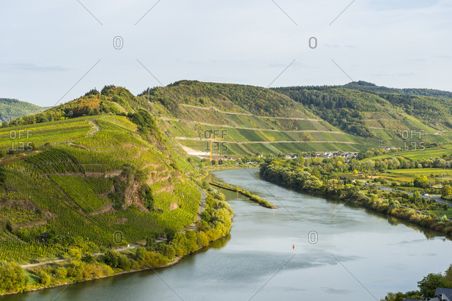 The Moselle River near Bremm, Moselle River, Rhineland-Palatinate, Germany, Europe
