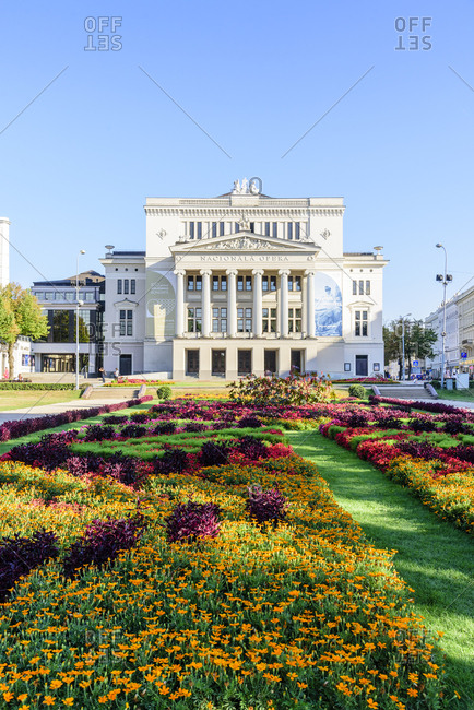 August 1, 2018: Opera House, Riga, Latvia, Europe