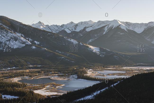 Vermillion Lakes, Banff National Park, UNESCO World Heritage Site, Alberta, Canadian Rockies, Canada, North America