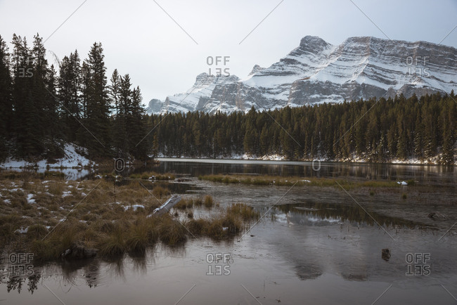 Johnson Lake and Mount Rundle, Banff National Park, UNESCO World Heritage Site, Alberta, Canadian Rockies, Canada, North America