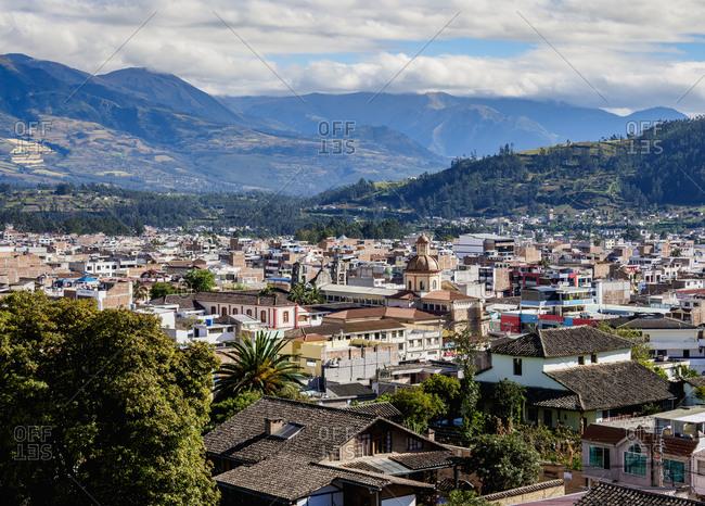 City Center, elevated view, Otavalo, Imbabura Province, Ecuador, South America