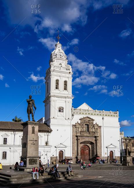 July 9, 2018: Church of San Domingo, Plaza de Santo Domingo, Old Town, UNESCO World Heritage Site, Quito, Pichincha Province, Ecuador, South America