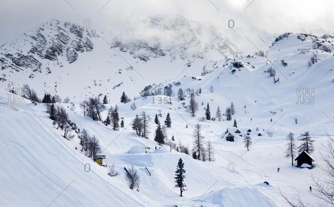 Vogel ski resort in Julian Alps, Slovenia, Europe