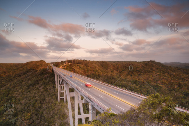Motorway bridge, Cuba, West Indies, Caribbean, Central America