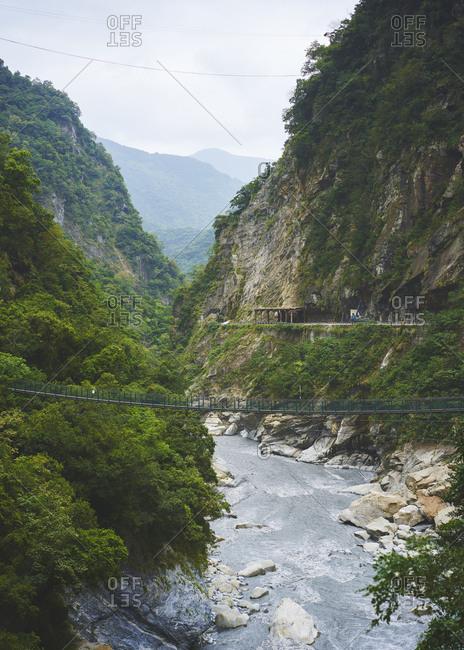The river running through Taroko gorge