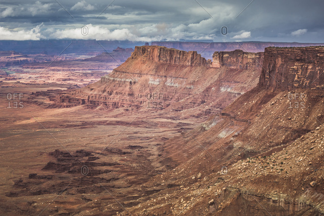 USA- Utah- Canyonlands National Park- The Needles- view