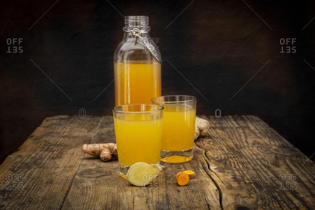 Ginger shot with curcuma
