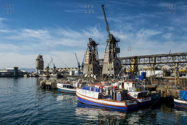 July 13, 2016: South Africa- Cape Town- fishing boats in the Victoria & Alfred Waterfront