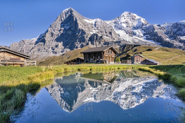 Switzerland- Bernese Oberland- Bernese Alps- Kleine Scheidegg- Eiger- Moench and Jungfrau