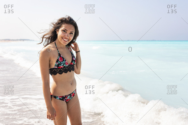 Young woman on the beach- portrait