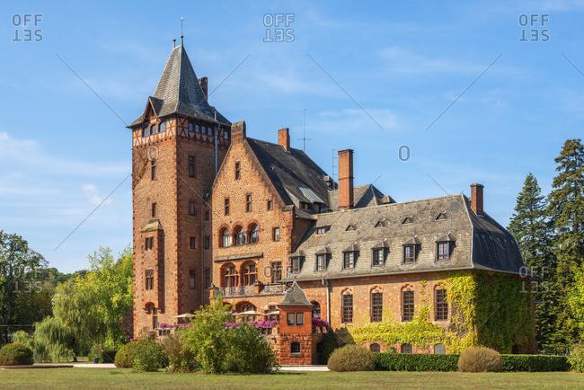 Saareck castle, Mettlach, Saarland, Germany