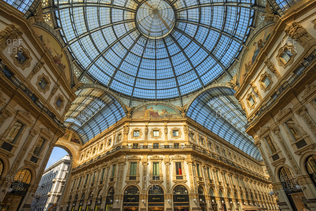 Milan - October 19, 2018: Galleries Vittorio Emanuele II,  Milan, Lombardy, Italy