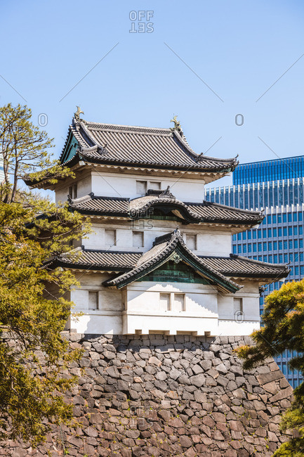 Guard tower, imperial palace, Tokyo, Japan