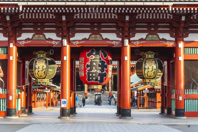 Japan - November 17, 2018: Senso-Ji temple, Asakusa, Tokyo, Kanto region, Japan.