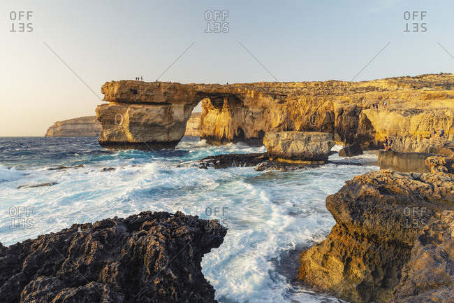 Malta, Gozo, Dwejra Azure Window Rock Arch