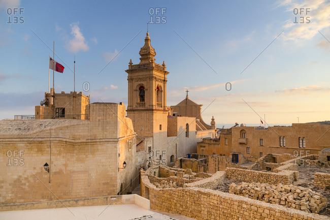 Malta - August 13, 2016: Malta, Gozo, Victoria (Rabat), Old Citadel