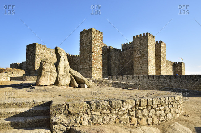 The castle of Trujillo dating back to the 9th-12th centuries stands at the highest point of the town. It was raised over the remains of an old moorish citadel. Trujillo, Spain