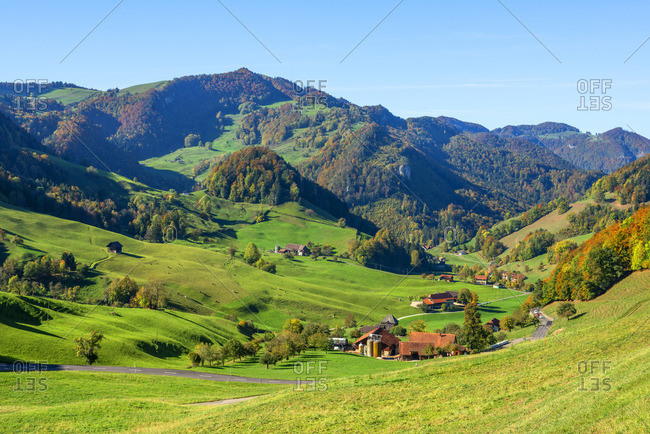 Jura mountains from Passwang pass, Solothurn, Switzerland