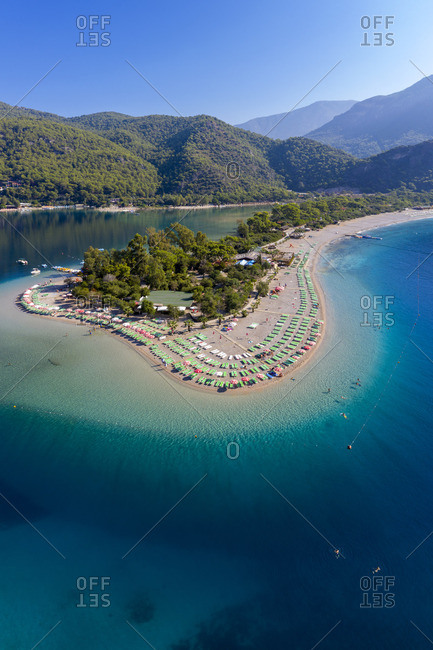 Turkey - October 7, 2018: Turkey, Fethiye, Oludeniz Peninsula