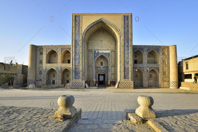 Ulugbek Madrassah. Bukhara, a UNESCO World Heritage Site. Uzbekistan