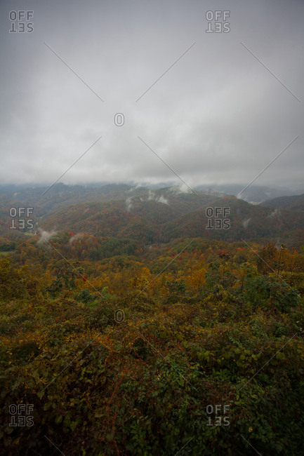 View of landscape of Pine Mountain in Whitesburg, KY