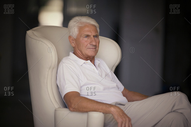Portrait of an elderly man in a thoughtful mood.